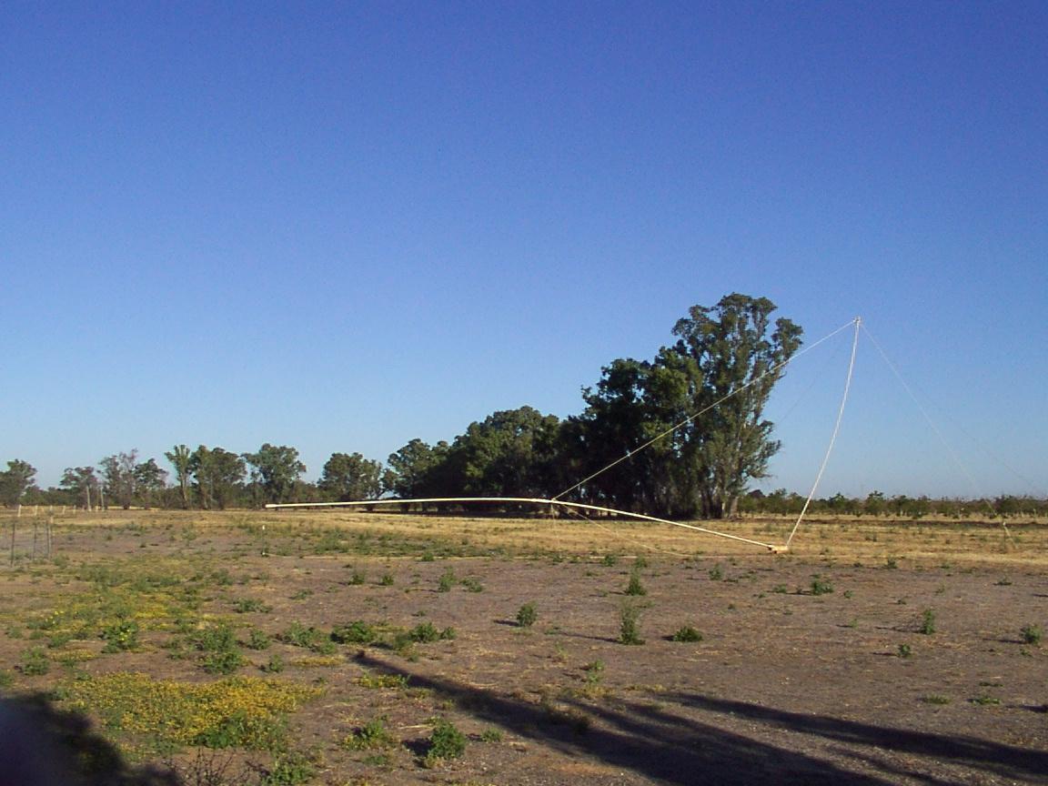 N6RK: A 60 foot Irrigation Tubing Mast/Vertical