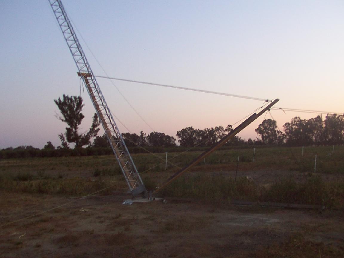 N6RK: Falling Derrick Method of Tilting Up a Tower